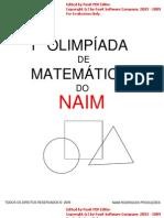 1º OLIMPÍADA de matemática DO NAIM