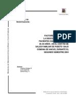 Descompensacin Pacientes Diabticos Entre 20 y 64 Aos Comuna de Ancud