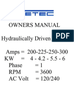 Getec Hydr. Welder Manual Hw225