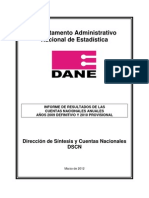 PIB Colombia Hasta 2010 DANE