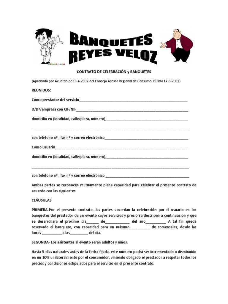 Contrato Prestacion De Servicios Banquetes Fertichetvia