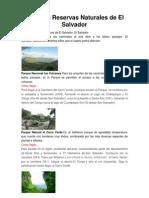 Áreas Naturales de El Salvador