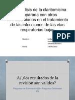 Metaanálisis de la claritomicina comparada con otros antimicrobianos