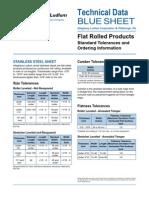 Standard Sheetmetal Slitting Tolerances