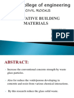 Arunai College of Engineering- Civil Engineering PPT By.D.venkatesan and S.raju Innovative Building Materials www.educationalupdates.com
