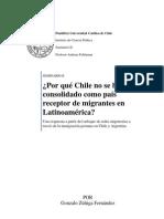 Tesis Por Que Chile No Se Ha Consolidado Como Receptor de Migrantes en La Region Enfoque de Redes