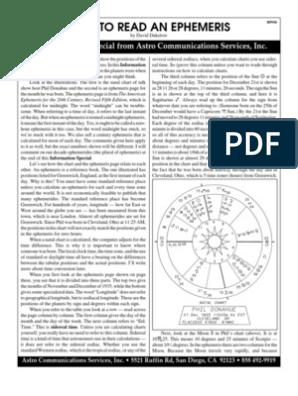 How to Read Ephemeris   Horoscope   Neptune