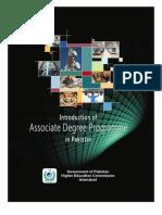 Associate Degree Booklet in Pakistan