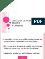 OXIDACIÓN DE ACIDOS GRASOS