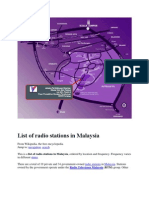 List of Radio Stations in Malaysia