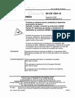 SR en 1504-10-2004 Produse Si Sisteme Pentru Protectia Si Repararea Structurilor de Beton. Definitii, Conditii, Controlul Calitatii Si Evaluarea Conformitatii.partea 10