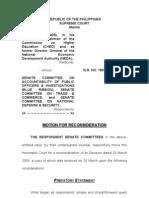 Senate Motion for Reconsideration Re Executive Privilege