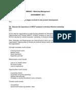Marketing Management - Set I - Sem 2 - Complete