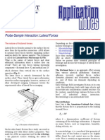Probe-sample Interaction Lateral Forces
