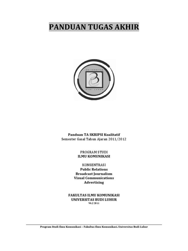 Skripsi Ilmu Komunikasi Kualitatif 2018 Pejuang Skripsi