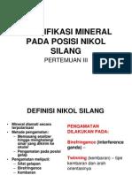 2554 Pengamatan Mineral Pada Nikol Silang