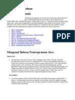 Java 01 Pendahuluan