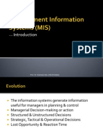 Management Information Systems (MIS)--Introduction