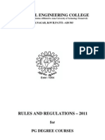 PG Regulations