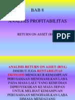 08&09 Analisis Profitabilitas, Roa & Roe