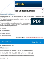 Examples of Real Numbers