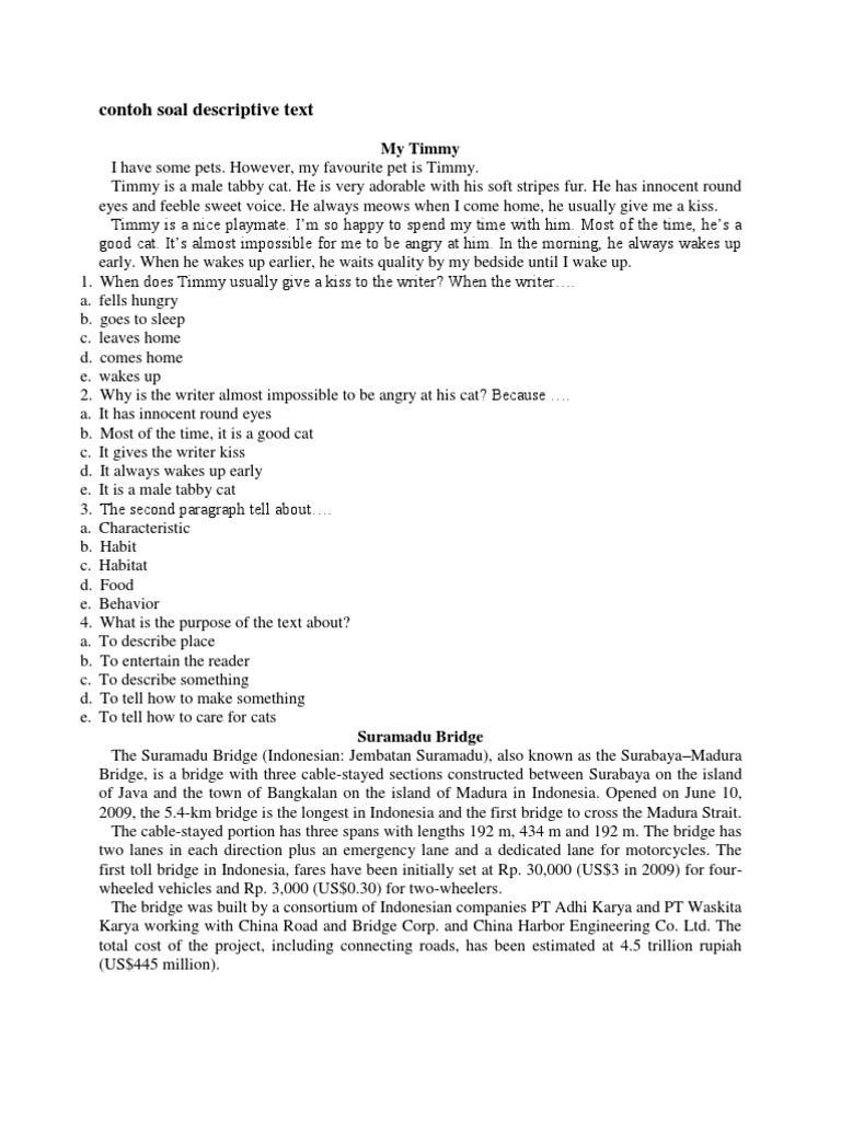 Contoh soal descriptive text entertainment general kristyandbryce Image collections
