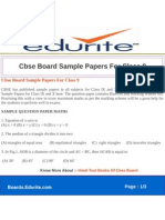 Cbse Board Sample Papers for Class 9