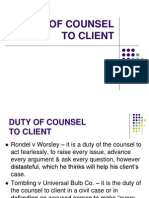 DUTY of Counsel - Client (1)