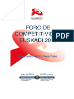 Foro de competitividad Euskadi 2015 (Es)/ Competitiveness Forum Euskadi 2015  (Spanish)/ Euskadi 2015 lehiakortasun foroa (Es)