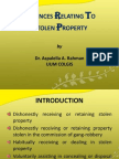 Offences Relating to Stolen Property