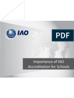 Scope of IAO's Accreditation for Schools