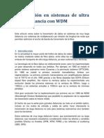 Transmisión en sistemas de ultra larga distancia con WDM