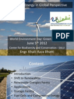 Renewable Energy in Global Perspective
