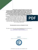 2007 ACC AHA Consensus Cardiac CT Calcium Scoring