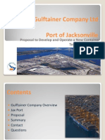 Gulftainer's PowerPoint presented to JaxPort officials in March