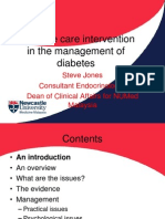 Palliative Care Intervention in the Management of Diabetes_Dr Steve Jones
