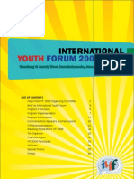 The Cover of Report of IYF 2008