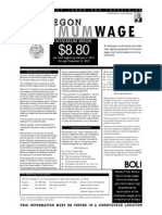 Oregon Minimum Wage  2012