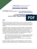 Introduction à l'épistémologie objectiviste 1° partie - chapitres 1 à 5