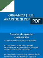 aparitia organizatiilor