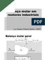 Balanço molar em reatores industriais