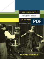 One Night on TV Is Worth Weeks at the Paramount by Murray Forman