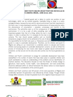 Nigerian Children and Youth Major Group Position on Rio+20