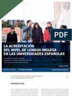 Spain Informe Acreditacion Ingles Universidades Espanolas