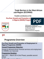 Surmounting Trade Barriers in the West African Sub-Region (ECOWAS) Alex Werth GIZ