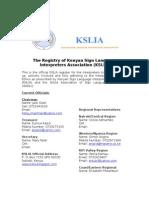 Registry- KSLIA 07