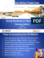 Doing Business in West Africa Vanessa Adams USAID Trade Hub
