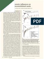 Presure and Porosity Influences