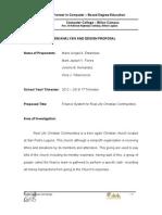 Finance System Proposal