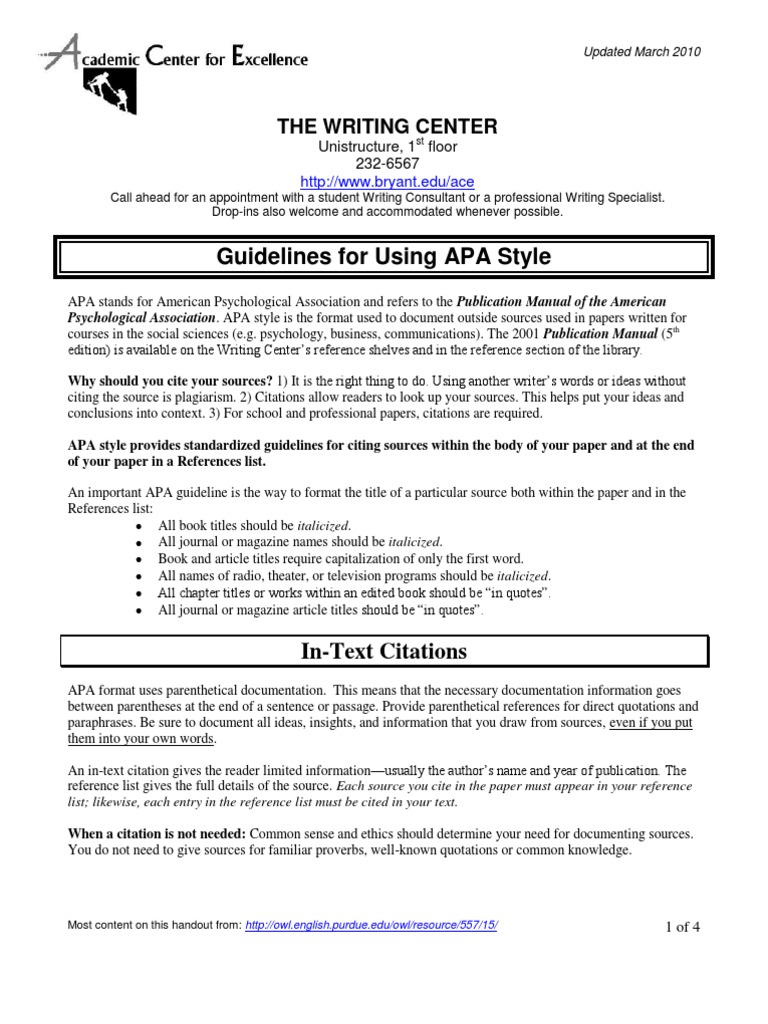 guidelines for using apa style seinfeld citation